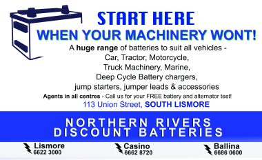Northern Rivers Discount Batteries